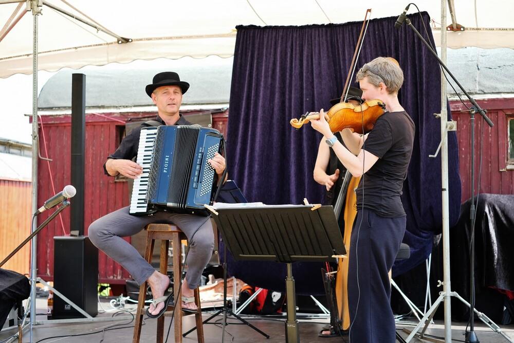 Hoffest 2019 Bühne Klezmart Band